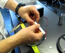 Attach LED Strip Lights To Connectors And Power Supply