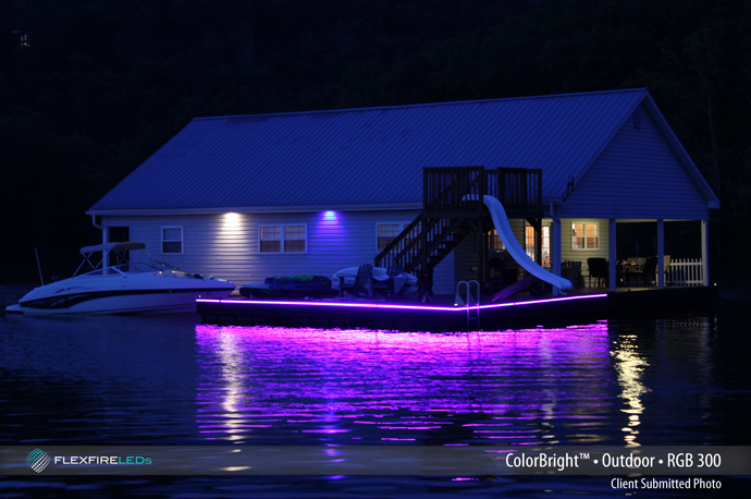 Dock Lighting With LED Strip Lights