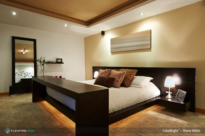 hotel bedroom led strip light